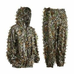 Eamber Ghillie Suit 3d Leaf Camo Youth Adult Lightweight Clothing Suits For Jung