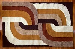 60s 70s Nos Xl Shag Rug - Never Used Vintage - 8.5x5.5andrsquo