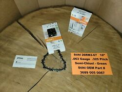 Stihl Oem 2-pack 26rm3-67 16 Green Chainsaw Chains .063 .325 67dl