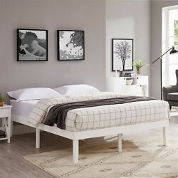 Isabella Wood Platform Bed By Naomi Home Queen White