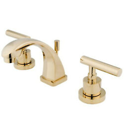 Kingston Brass Manhattan Two Handle 4 To 8 Mini Widespread Lavatory Faucet Wit