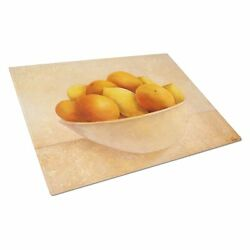 Carolineand039s Treasures Oranges And Lemons In A Bowl Glass Cutting Board Large ...