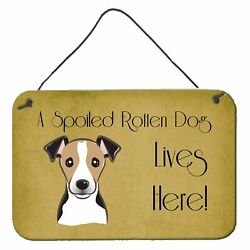 Carolineand039s Treasures Bb1509ds812 Jack Russell Terrier Spoiled Dog Lives Here...