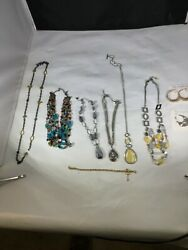 Lia Sophia Fashion Jewelry Necklace And Earring Lot