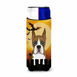quot;Caroline#x27;s Treasures Halloween Boxer Michelob Ultra Koozies for Slim Cans M...