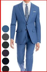 Mens Light Blue Suit Custom Made To Measure Bespoke Suits Cashmere Wool