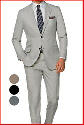 Mens Light Gray Suit Custom Made To Measure Bespoke Tailored Suits Cashmere Wool
