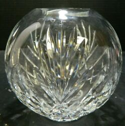 Vintage Signed Waterford Leana Globe Rose Vase / Bowl 5 X 5 X 5 Excellent Con