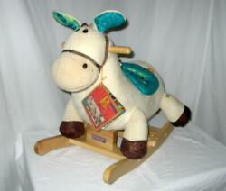 New With Tags Wooden Rocking Plush Horse Rodeo Rockers - Banjo - B Toys