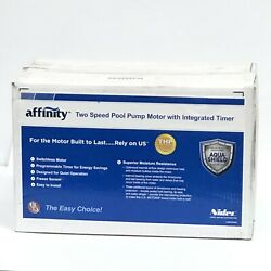 Affinity Two-speed Pool Pump Motor With Integrated Timer Asb2983t New Us Motors