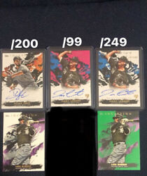 2021 Topps Inception White Sox Auto Parallel And Base Lot Robert Madriagl