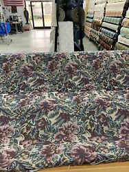 """Floral Leaf Tapestry Upholstery Fabric 54"""" Wide By The Yard"""