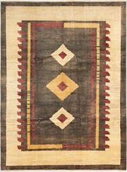 Vintage Hand-knotted Carpet 8'2 X 11'1 Traditional Oriental Wool Area Rug