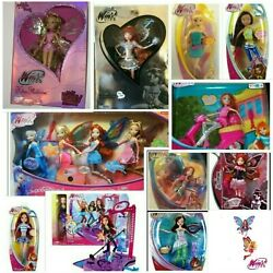 Lot 16 Winx Club Blooms Dolls Sdcc 2012 Silver Pink Enchantix Tecna Aisha
