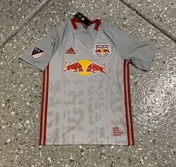 New York Red Bulls Adidas Football Soccer Jersey Youth Large New With Tags