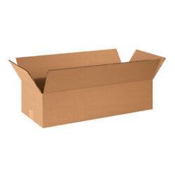 24 X 10 X 6 Flat Corrugated Boxes Ect-32 Brown Shipping/moving Boxes 25/bundle