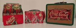 Lot Of 3 Vintage Coca Cola Miniature Metal Lunch Boxes New