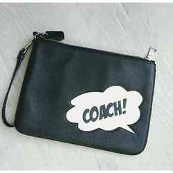 Nwt Coach 2648 Marvel Gallery Pouch W/coach Bubble Limited Black Multi 198