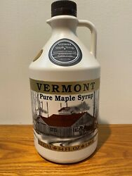 Vermont Maple Syrup 1/2 Half Gallon Grade A Rich Amber Free Shipping