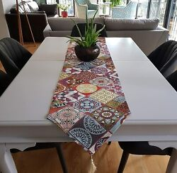 Secret Sea Collection Table Runners Upholstery Fabric 90and039and039 X 14and039and039 Colorful Ic