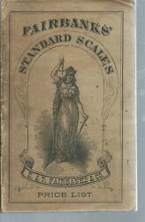 Ad-030 - 1892 E And T Fairbanks Standard Scales Price List Illustrated Rare Vintag