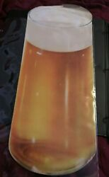 1930 Woolworth Glossy Advertising Die Cut Tall Glass Of Lager Beer With Head