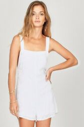 Amuse Society Womens Free And Wild Romper White M New