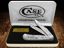 Case Xx Happy Father's Day Daddy White Pearl 1 Trapper Pocket Knife Stainless