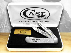 Case Xx White Pearl Corelon Right To Bear Arms 1/600 Trapper 1 Pocket Knives