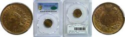 1871 Indian Head Cent Pcgs Ms-65 Bn Cac