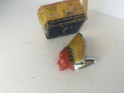 Nos Super Chief Hood Ornament In Box1940and039s And 1950and039s Accessory Blackstone