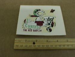 Snoopy Curses The Red Baron Sop With Camel Aircraft Plane Vtg Water Slide Decal