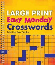 Large Print Easy Monday Crosswords By Peter Gordon 9781402790294 | Brand New