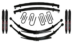 Skyjacker Suspension 4 Lift Kit W/black Max Shocks Fits Chevrolet C240aksd-b