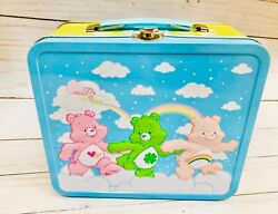 Care Bears Lunch Box Kit Tin Metal 2010 Rare 80's Characters Storage Container