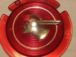 It-009 1950and039s Gm Pontiac Indian Head Red Plastic Grille Emblem Badge Insert