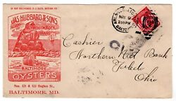Baltimore Md Rpo Illustrated Hubbard And Sons Plymouth Rock Oysters Advertising