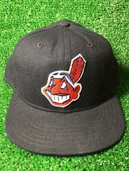 Rare Cleveland Indians New Era Pro Model Fitted Cap Hat Mlb New Vintage 7 1/2