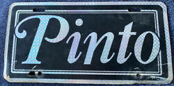 Vintage 1970s Ford Pinto Car License Plate Tag