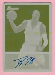 2009-10 Bowman 48 Dwight Howard Auto Autograph Printing Plate 1/1 Magic
