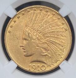 1910 10 Gold Indian Ngc Ms 61