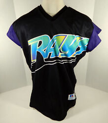Rare 1999 Tampa Devil Rays Authentic Black Jersey Turn Ahead The Clock 48