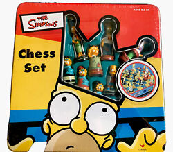 The Simpsons 3d Chess Set Complete Board Game Classic Unopened Box - New