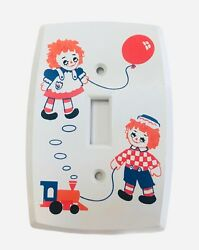Vintage Raggedy Anne And Andy Dolls Lights Switch Plate Kids Nursery Plastic