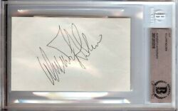 William Holden Signed Autographed 3x5 Index Card Legendary Actor Beckett Bgs