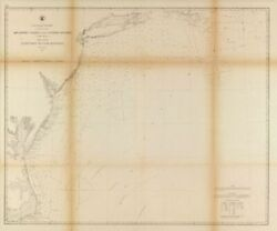 1863 Map  Atlantic Coast Of The United States In Four Sheets Sheet No. Ii, N