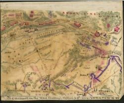 1862 Map| The Assault On The Red Battery April 25th 1862 Yorktown Va| Civil