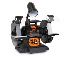 Bg4280 5-amp 8-inch Variable Speed Bench Grinder With Flexible Work Light