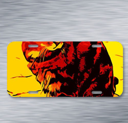Cat Colors Color Play Painted On License Plate Car Front Auto Tag