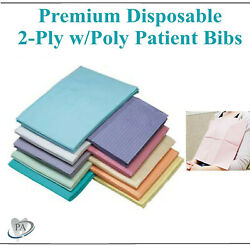 Disposable Dental Medical Tattoo Sigle Use Patient Bibs Towels 18x13, 1000/case